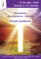 Otro Lieldienu ekumeniskā dievkalpojuma plakāts